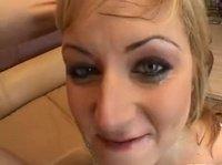 Сперама на лице хорошей красавица