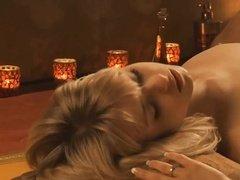 Романтический красивый секс при свечах